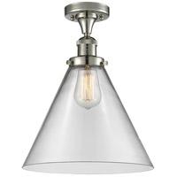 Innovations Lighting 517-1CH-PN-G42-L X-Large Cone 1 Light 12 inch Polished Nickel Semi-Flush Mount Ceiling Light Franklin Restoration