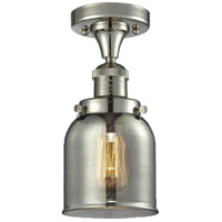Innovations Lighting 517-1CH-PN-G53 Small Bell 1 Light 5 inch Polished Nickel Semi-Flush Mount Ceiling Light Franklin Restoration
