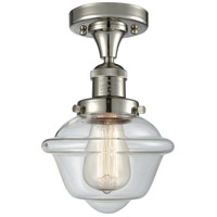 Innovations Lighting 517-1CH-PN-G532 Small Oxford 1 Light 8 inch Polished Nickel Semi-Flush Mount Ceiling Light Franklin Restoration