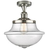 Innovations Lighting 517-1CH-PN-G544 Large Oxford 1 Light 12 inch Polished Nickel Semi-Flush Mount Ceiling Light, Franklin Restoration