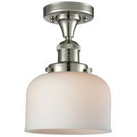 Innovations Lighting Signature 1 Light 8 inch Polished Nickel Semi-Flush Mount Ceiling Light Large Bell