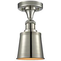 Innovations Lighting 517-1CH-PN-M9-LED Addison LED 5 inch Polished Nickel Semi-Flush Mount Ceiling Light, Franklin Restoration