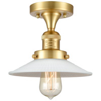 Innovations Lighting 517-1CH-SG-G1 Halophane 1 Light 9 inch Satin Gold Semi-Flush Mount Ceiling Light