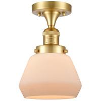 Innovations Lighting 517-1CH-SG-G171 Fulton 1 Light 7 inch Satin Gold Semi-Flush Mount Ceiling Light, Franklin Restoration