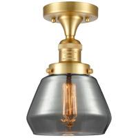 Innovations Lighting 517-1CH-SG-G173-LED Fulton LED 7 inch Satin Gold Semi-Flush Mount Ceiling Light
