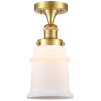 Satin Gold Glass Canton Semi-Flush Mounts