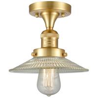 Innovations Lighting 517-1CH-SG-G2-LED Halophane LED 9 inch Satin Gold Semi-Flush Mount Ceiling Light, Franklin Restoration