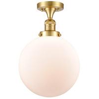 Innovations Lighting 517-1CH-SG-G201-10-LED X-Large Beacon LED 10 inch Satin Gold Semi-Flush Mount Ceiling Light