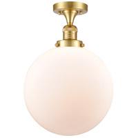 Innovations Lighting 517-1CH-SG-G201-12-LED XX-Large Beacon LED 12 inch Satin Gold Semi-Flush Mount Ceiling Light