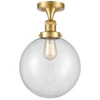Innovations Lighting 517-1CH-SG-G202-10-LED X-Large Beacon LED 10 inch Satin Gold Semi-Flush Mount Ceiling Light