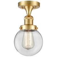 Innovations Lighting 517-1CH-SG-G202-6-LED Beacon LED 6 inch Satin Gold Semi-Flush Mount Ceiling Light