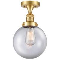 Innovations Lighting 517-1CH-SG-G202-8-LED Large Beacon LED 8 inch Satin Gold Semi-Flush Mount Ceiling Light