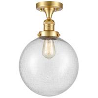 Innovations Lighting 517-1CH-SG-G204-10 X-Large Beacon 1 Light 10 inch Satin Gold Semi-Flush Mount Ceiling Light, Franklin Restoration