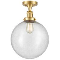 Innovations Lighting 517-1CH-SG-G204-12 XX-Large Beacon 1 Light 12 inch Satin Gold Semi-Flush Mount Ceiling Light, Franklin Restoration