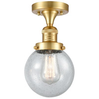 Innovations Lighting 517-1CH-SG-G204-6 Beacon 1 Light 6 inch Satin Gold Semi-Flush Mount Ceiling Light, Franklin Restoration