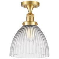 Innovations Lighting 517-1CH-SG-G222-LED Seneca Falls LED 10 inch Satin Gold Semi-Flush Mount Ceiling Light