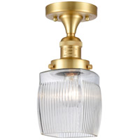 Satin Gold Glass Colton Semi-Flush Mounts