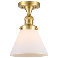 Satin Gold Large Cone Semi-Flush Mounts