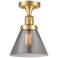 Innovations Lighting 517-1CH-SG-G43 Large Cone 1 Light 8 inch Satin Gold Semi-Flush Mount Ceiling Light, Franklin Restoration
