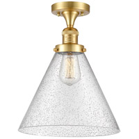 Innovations Lighting 517-1CH-SG-G44-L X-Large Cone 1 Light 12 inch Satin Gold Semi-Flush Mount Ceiling Light Franklin Restoration