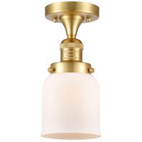 Innovations Lighting 517-1CH-SG-G51 Small Bell 1 Light 5 inch Satin Gold Semi-Flush Mount Ceiling Light, Franklin Restoration