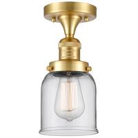 Innovations Lighting 517-1CH-SG-G52 Small Bell 1 Light 5 inch Satin Gold Semi-Flush Mount Ceiling Light, Franklin Restoration