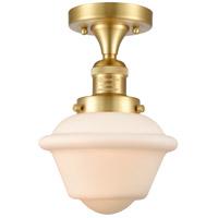 Innovations Lighting 517-1CH-SG-G531 Small Oxford 1 Light 8 inch Satin Gold Semi-Flush Mount Ceiling Light, Franklin Restoration