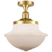 Satin Gold Large Oxford Semi-Flush Mounts