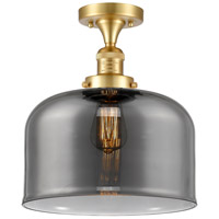 Innovations Lighting 517-1CH-SG-G73-L-LED X-Large Bell LED 12 inch Satin Gold Semi-Flush Mount Ceiling Light Franklin Restoration