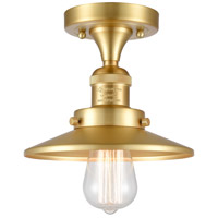 Innovations Lighting 517-1CH-SG-M4 Railroad 1 Light 7 inch Satin Gold Semi-Flush Mount Ceiling Light, Franklin Restoration