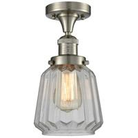 Innovations Lighting 517-1CH-SN-G142-LED Chatham LED 6 inch Satin Nickel Semi-Flush Mount Ceiling Light Franklin Restoration