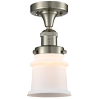 Innovations Lighting 517-1CH-SN-G181S Small Canton 1 Light 6 inch Brushed Satin Nickel Semi-Flush Mount Ceiling Light Franklin Restoration