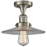 Innovations Lighting 517-1CH-SN-G2-LED Halophane LED 9 inch Brushed Satin Nickel Semi-Flush Mount Ceiling Light Franklin Restoration