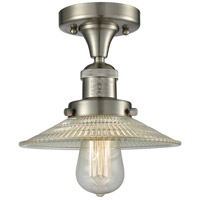 Innovations Lighting 517-1CH-SN-G2 Halophane 1 Light 10 inch Brushed Satin Nickel Semi-Flush Mount Ceiling Light