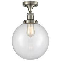 Innovations Lighting 517-1CH-SN-G202-10 X-Large Beacon 1 Light 10 inch Brushed Satin Nickel Semi-Flush Mount Ceiling Light Franklin Restoration