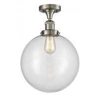 Innovations Lighting 517-1CH-SN-G202-12 XX-Large Beacon 1 Light 12 inch Satin Nickel Semi-Flush Mount Ceiling Light Franklin Restoration