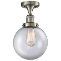Innovations Lighting 517-1CH-SN-G202-8 Large Beacon 1 Light 8 inch Satin Nickel Semi-Flush Mount Ceiling Light Franklin Restoration