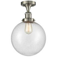 Innovations Lighting 517-1CH-SN-G204-10 X-Large Beacon 1 Light 10 inch Brushed Satin Nickel Semi-Flush Mount Ceiling Light Franklin Restoration