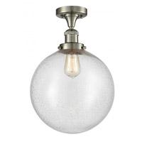 Innovations Lighting 517-1CH-SN-G204-12 XX-Large Beacon 1 Light 12 inch Satin Nickel Semi-Flush Mount Ceiling Light Franklin Restoration