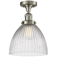 Innovations Lighting 517-1CH-SN-G222-LED Seneca Falls LED 10 inch Satin Nickel Semi-Flush Mount Ceiling Light Franklin Restoration