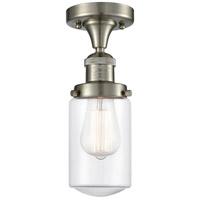 Innovations Lighting 517-1CH-SN-G312-LED Dover LED 5 inch Satin Nickel Semi-Flush Mount Ceiling Light Franklin Restoration