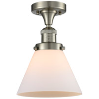 Innovations Lighting 517-1CH-SN-G41-LED Large Cone LED 8 inch Brushed Satin Nickel Semi-Flush Mount Ceiling Light