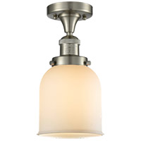 Innovations Lighting 517-1CH-SN-G51-LED Small Bell LED 5 inch Brushed Satin Nickel Semi-Flush Mount Ceiling Light