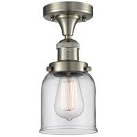 Innovations Lighting Signature 1 Light 5 inch Brushed Satin Nickel Semi-Flush Mount Ceiling Light Small Bell