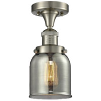 Innovations Lighting 517-1CH-SN-G53-LED Small Bell LED 5 inch Brushed Satin Nickel Semi-Flush Mount Ceiling Light