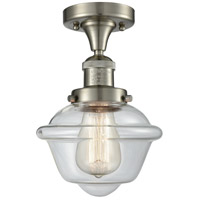 Innovations Lighting 517-1CH-SN-G532-LED Small Oxford LED 8 inch Brushed Satin Nickel Semi-Flush Mount Ceiling Light