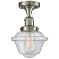 Innovations Lighting 517-1CH-SN-G534 Small Oxford 1 Light 8 inch Brushed Satin Nickel Semi-Flush Mount Ceiling Light Franklin Restoration