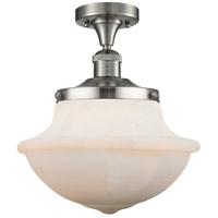Innovations Lighting 517-1CH-SN-G541 Large Oxford 1 Light 12 inch Satin Nickel Semi-Flush Mount Ceiling Light Franklin Restoration