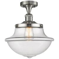 Innovations Lighting 517-1CH-SN-G542 Large Oxford 1 Light 12 inch Satin Nickel Semi-Flush Mount Ceiling Light Franklin Restoration