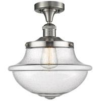 Innovations Lighting 517-1CH-SN-G544 Large Oxford 1 Light 12 inch Satin Nickel Semi-Flush Mount Ceiling Light Franklin Restoration